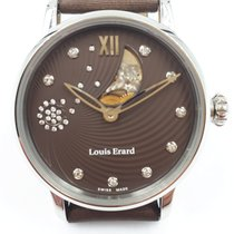 Louis Erard new Automatic Display back Gemstones and/or diamonds Only Original Parts 34mm Steel Sapphire crystal
