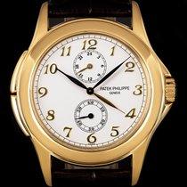 Patek Philippe Travel Time Żółte złoto 37mm Biały Arabskie
