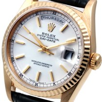Rolex Day-Date 36 Yellow gold 36mm White United States of America, California, Los Angeles