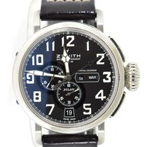 Zenith Pilot Type 20 Annual Calendar pre-owned 48mm Leather