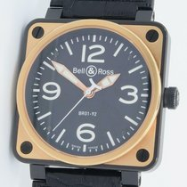 Bell & Ross Br01-92 Automatic Steel Pvd W/ 18k Yg 46mm