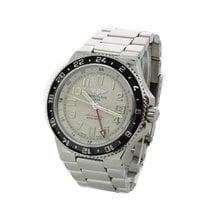 Breitling Superocean GMT Steel 40mm Champagne Arabic numerals