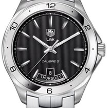 TAG Heuer Link Calibre 5 Steel 42mm Black Arabic numerals United States of America, California, Moorpark