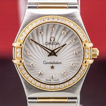 Omega Constellation Quartz Acero y oro Madreperla