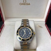 Omega Seamaster Gold/Stahl 37mm Schwarz Keine Ziffern