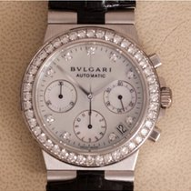 Bulgari Złoto białe Automatyczny Masa perłowa 35mm używany Diagono