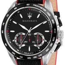 Maserati nov Kvarc Svjetleca kazaljka Zasarafljena krunica 45mm Zeljezo Mineralno staklo
