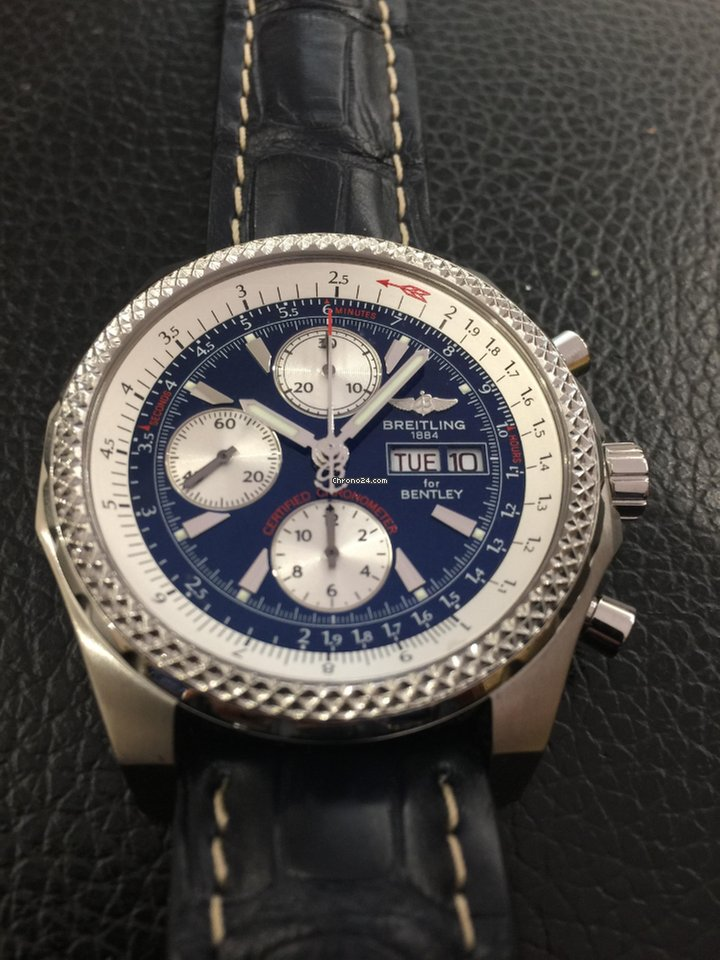 Breitling Bentley Gt Racing Chronograph And Steel Ref A 13363 For