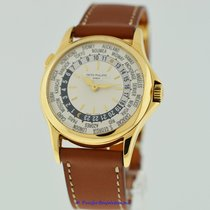 Patek Philippe Yellow gold Automatic Silver 37mm pre-owned World Time