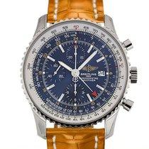 Breitling Navitimer World 46 Chronograph Blue Dial Light Brown...