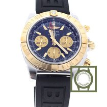 Breitling Chronomat 44 GMT Chronograph Pink Gold Rubber Strap NEW