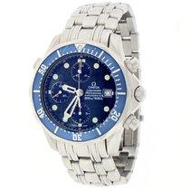Omega Seamaster Chronograph 42MM Blue Dial Steel James Bond...