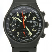 Bell & Ross | Pilot Technical Chronograph, matte-black plated...
