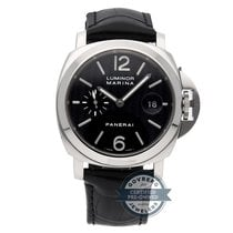 Panerai Luminor Marina Hvitt gull 44mm Svart Arabisk